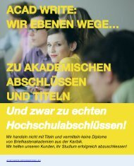 Imagebroschüre der Acad Write International AG
