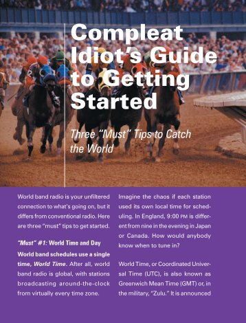 Compleat Idiot's Guide to Getting Started