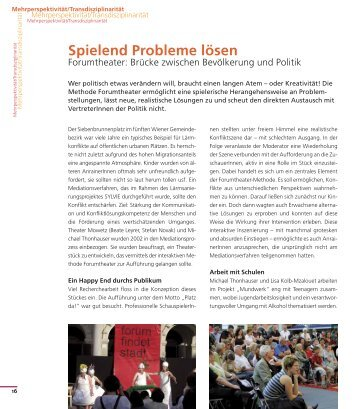 Spielend Probleme lösen - Forumtheater - Bildungslandkarte