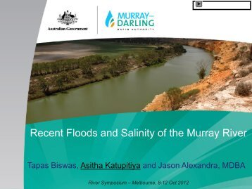 Recent Floods and Salinity of the Murray River
