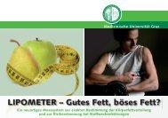 LIPOMETER – Gutes Fett, böses Fett? - Medizinische Universität Graz