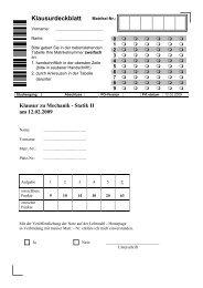 Klausur vom 12.02.2009 - TU Dortmund