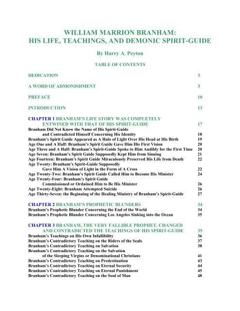 william marrion branham eternal life ministries