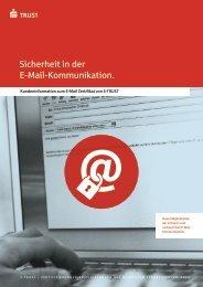 2. Was sind die Vorteile von S-TRUST E-Mail Zertifikaten?
