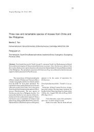 Three new and remarkable species of mosses from China and the ...
