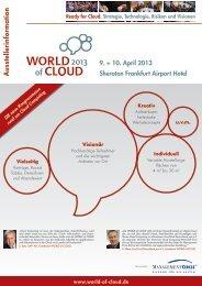 Ausstellerinformation - World of Cloud