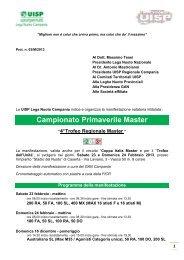 Campionati Regionali 2013_Bando Gara - Nuoto Master