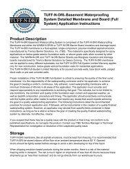 TUFF-N-DRI Installation Guide - Tremco Barrier Solutions