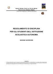 Regolamento disciplina Studenti - Vincenzo Ragusa