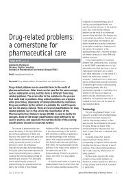 Drug-related problems - Malta College of Pharmacy Practice