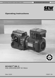 Operating Instructions – MOVIMOT® MM..D with DRS/DRE/DRP AC ...