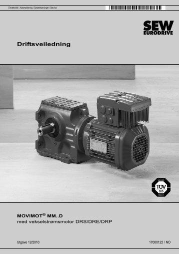 MOVIMOT® MM..D med vekselstrømsmotor DRS/DRE/DRP