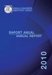 Raport anual 2010 - Consiliul Concurenţei