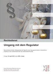 Umgang mit dem Regulator - VSE