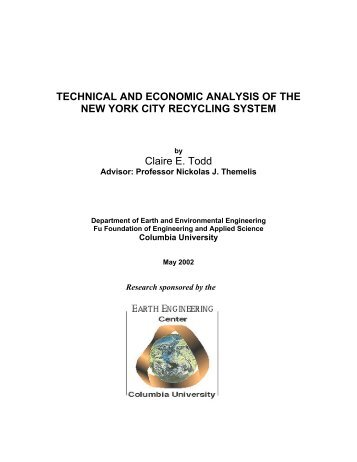 technical and economic analysis of the new york city recycling system