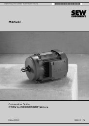 Manual – Conversion Guide DT/DV to DRS/DRP ... - SEW Eurodrive