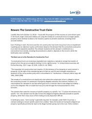 Beware The Constructive Trust Claim - Gibson, Dunn & Crutcher LLP