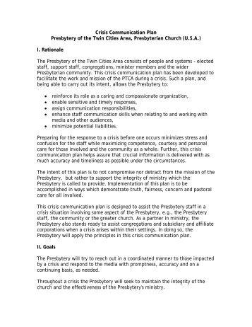 Crisis Communications Plan Template. marketing communications ...