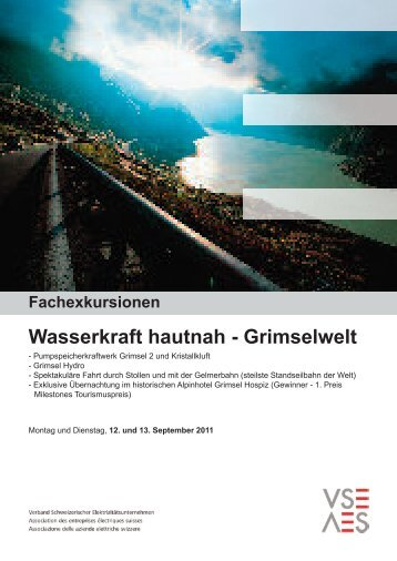 Wasserkraft hautnah - Grimselwelt - VSE