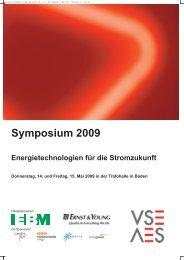 Symposium 2009 Energietechnologien für die ... - Meteomedia