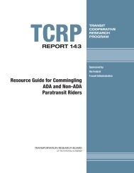TCRP Report 143 – Resource Guide for Commingling ADA and Non ...