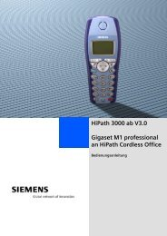 Bedienung Gigaset M1 - Frey + Cie Telecom AG