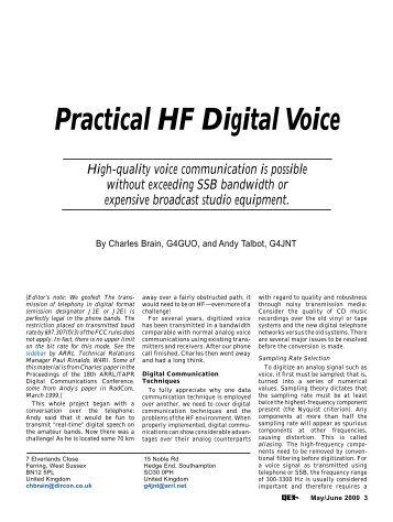 Practical HF Digital Voice - ARRL