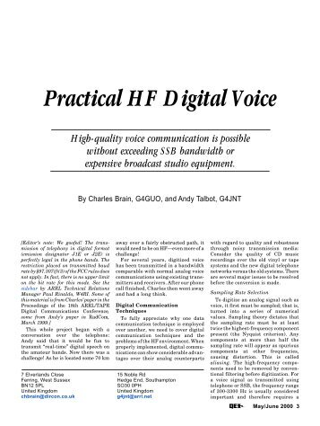 Practical HF Digital Voice - ARRL