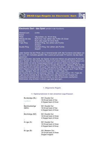 DSAB Liga Regeln Dart - Die Schmuggler