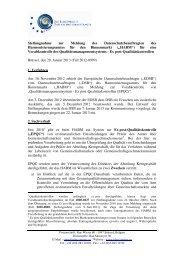 Stellungnahme zur Meldung des ... - EDPS - Europa