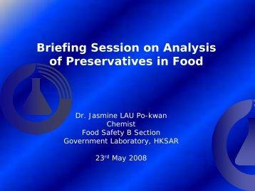 Briefing Session on Chemical Testing of ... - uri=govtlab.gov