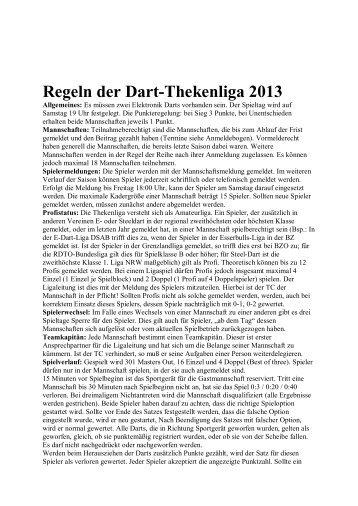Regeln der Dart-Thekenliga 2013 - Die E-Dart Liga in ...