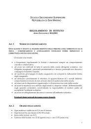 Regolamento d'Istituto - Portale per l'educazione