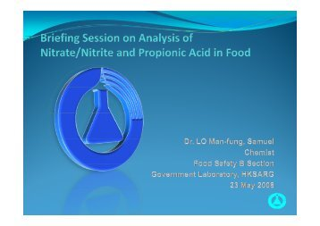 Briefing Session on Analysis of Nitrate/Nitrite and ... - uri=govtlab.gov