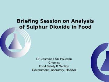 食物中二氧化硫分析簡介 - uri=govtlab.gov