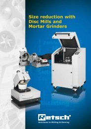 Size reduction with Disc Mills and Mortar Grinders - Retsch Romania