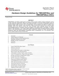 Hardware Design Guidelines for TMS320F28xx ... - Texas Instruments