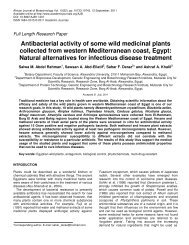 Antibacterial activity of some wild medicinal plants collected from ...