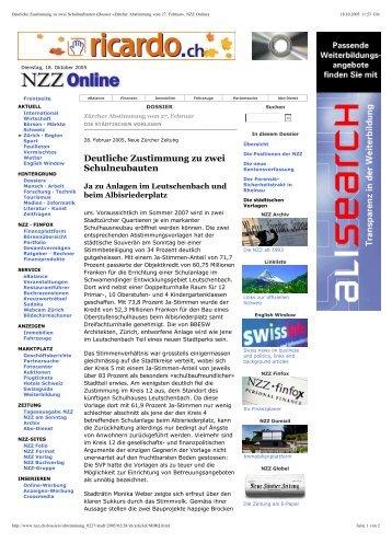NZZ 21.6.2005 - Studer Simeon Bettler