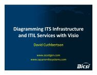 Diagramming ITS Infrastructure and ITIL Services with Visio - Bicsi