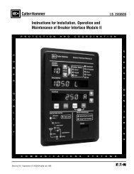 Breaker Interface Module II - Eaton Canada