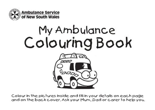 Children S Colouring Book Ambulance Service Of Nsw