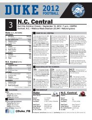 N.C. Central - Home Page Content Goes Here
