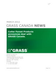 Cutler Forest Products and GRASS Canada.