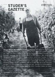 Studer's Gazette – 07 – Sommer 2011 - Carl Studer Vinothek