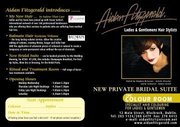 Download the current price list. - Aidan Fitzgerald Hair Styling ...