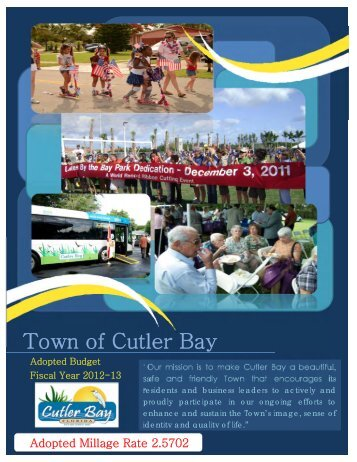 FY 2012-2013 Final Budget Book - Cutler Bay