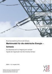 Marktmodell für die elektrische Energie – Schweiz - VSE