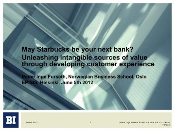 May Starbucks Be Your Next Bank? - PRO INNO Europe