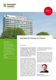 Newsletter im KSF - Spital Thurgau AG